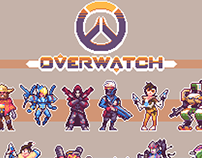 Overwatch character stickers