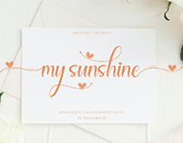 FREE | My Sunshine - Modern Calligraphy Font