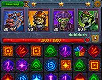 Heroes&Puzzles UI