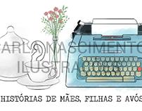Cabeçalho para blog (Histórias de mães, filhas e avós)