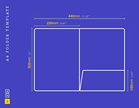 A4 Folder Template