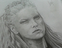 Vikings Drawing (Lagertha)