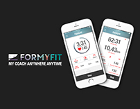FORMYFIT // A new running app // UI&UX // App/AD/WEB