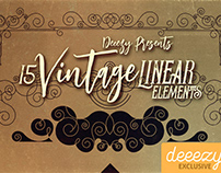 Free Vintage Linear Elements