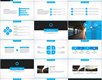 Blue multipurpose presentation PowerPoint templates