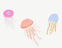 IPAD Drawings: Adobe Illustrator Draw / Jellyfishing