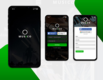 Login and Sign Up page for Moosiku