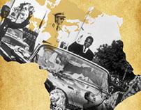 Forside og illustrationer til Afrikas historie