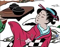 Poster - Toyoharu Tea Party