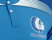 KAA Gent football kit.