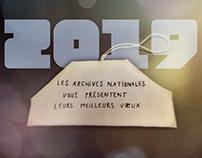 Archives nationales / carte de vœux 2019