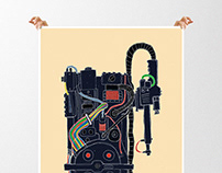Ghostbusters, Robocop and Batman posters