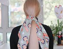 Kokeshi Doll Print Furoshiki/Scarf 2019