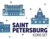 St. Petersburg Icons Set