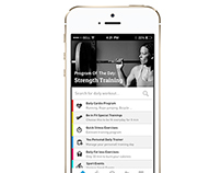 Fitness app design for iOS