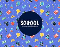 School Vector Free Seamless Pattern