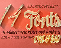 10 Dollar Bundle vol.7 – Creative Fonts