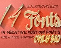 10 Dollar Bundle vol.7 – Creative Fonts