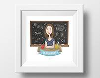 La mejor profe // Ilustración personalizada