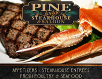 Pine Lodge Steak House Advertisement