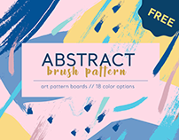 Abstract Brush Pattern - FREE
