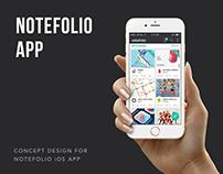 Creative network 'Notefolio' iOS App