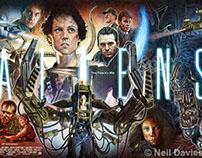 Aliens 30th Anniversary poster illustration