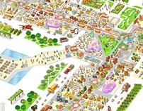 FICO Eataly World-Italy Map illustration