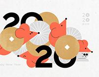 2020 Lunar new year 新年視覺設計