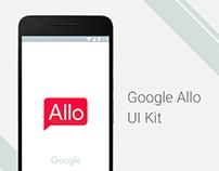 Google Allo FREE UI Kit for Photoshop