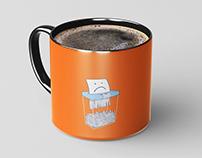 Small Ceramic Mug Mock-Up