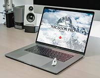 Free Modern Workstation MacBook Pro Mockup