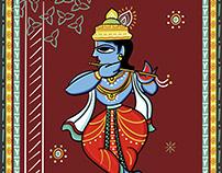 Dasavatara Illustrations in Bengal Patua Style