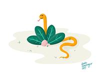 Ssss, triptyque d'illustrations