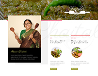Kitchen Blog Template (PSD Design)