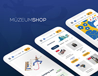 MúzeumShop e-commerce website