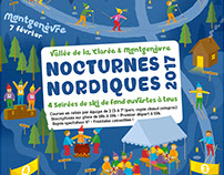 Nocturnes Nordiques – Poster for a night leisure event