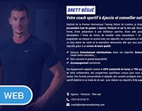 "Site internet ""Brett Personal Training"""