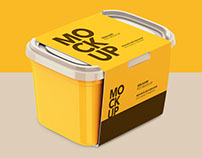 Plastic Container - Mockup
