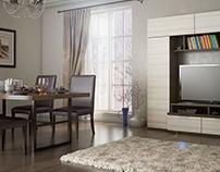 Визуализация мебели в интерьере.
