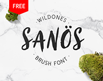 Sanös - Free Brush Script Font