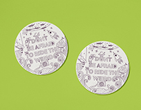AIGA Upstate New York Letterpress Coasters