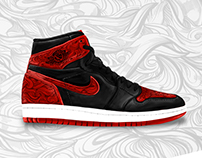 AIR JORDAN 1 ILLUSTRATION USING AN IPAD