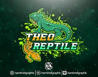 Iguana Gecko Mascot Sports Logo | Theo Reptile