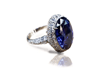 3D modeled and made Sapphire ring