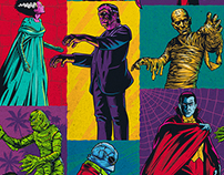 "Universal Classic Monsters ""Monsterror"" Style Guide"
