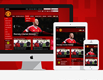 Manchester United Website redesign