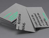 — personal business card