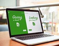 Greenhouse: volunteer-to-nonprofit site UI