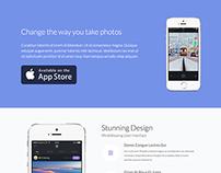 iOS App Landing Page Presentation